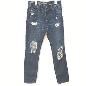 Lucky Brand Sienna Slim Boyfriend Destroyed Jeans